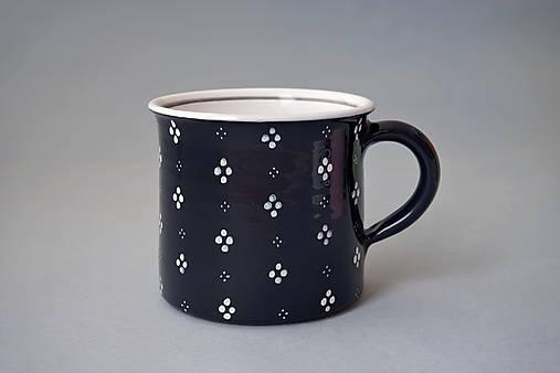 Kafáč 10 cm 4puntík - černý, cca 0,5 l