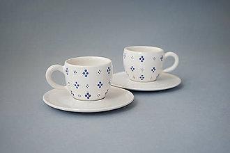 Nádoby - Přátelský set šálků na espresso s podšálky  - 8106525_