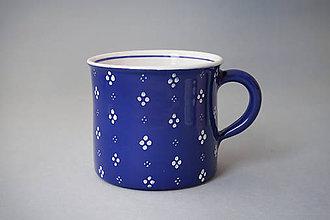 Nádoby - Kafáč 10 cm 4puntík - modrý, cca 0,5 l - 8106632_