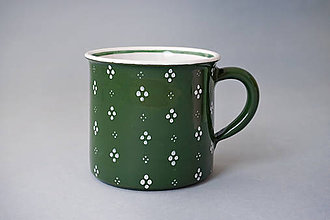 Nádoby - Kafáč 10 cm 4puntík - zelený, cca 0,5 l - 8106637_