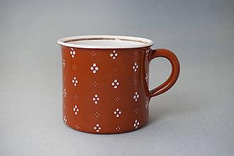 Nádoby - Kafáč 10 cm 4puntík - hnědý, cca 0,5 l - 8106649_