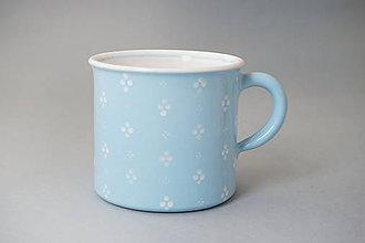 Nádoby - Kafáč 10 cm 4puntík - světle modrý, cca 0,5 l - 8106650_