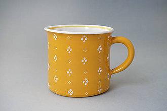 Nádoby - Kafáč 10 cm 4puntík - žlutý, cca 0,5 l - 8106654_