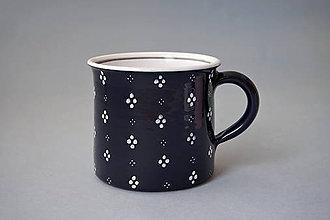 Nádoby - Kafáč 10 cm 4puntík - černý, cca 0,5 l - 8106665_