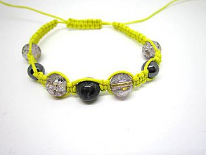 Náramky - Shamballa náramok žltý - 8106415_