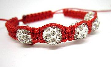 Náramky - Shamballa náramok červený - 8106500_