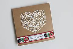 Papiernictvo - Ľudové svadobné oznámenie - 8105279_