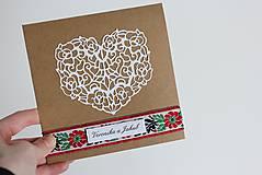 Papiernictvo - Ľudové svadobné oznámenie - 8105280_