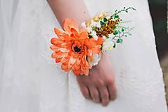 """Náramky - Kvetinový náramok s gerberou """"vôňa slnenčných dní"""" - 8103746_"""