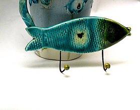 Nábytok - vešiak tyrkysová ryba - 8104070_