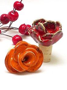 Pomôcky - ruža , kvet  zátka na fľašu - 8104639_