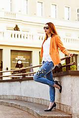 Kabáty - Svieže oranžové sako - 8103840_