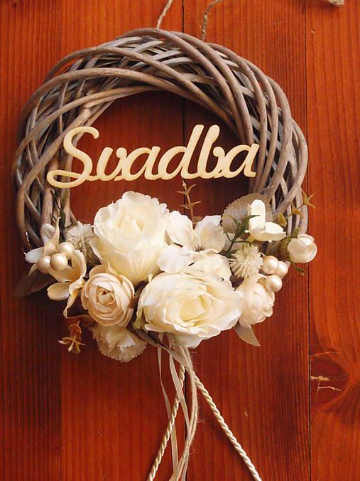 a15731b050af Vintage svadobný veniec s nápisom Svadba   erikak - SAShE.sk ...
