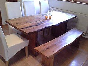 Nábytok - stol a lavica - 8103893_