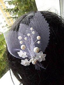 Ozdoby do vlasov - Sponka pre nevestu - 8105563_