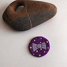 Náhrdelníky - Mozaikový prívesok (mašlička) - 8106547_