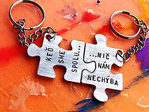Kľúčenky - AKCIA na PUZZLE :) s Tvojím textom 10€ pár - 8106913_