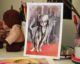 Grafika - Smutný vlk - 8109744_