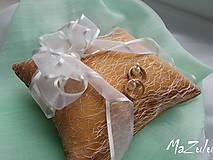Prstene - Svadobný vankúšik na prstienky - 8107175_