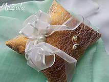 Prstene - Svadobný vankúšik na prstienky - 8107177_