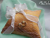 Prstene - Svadobný vankúšik na prstienky - 8107178_