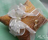 Prstene - Svadobný vankúšik na prstienky - 8107179_