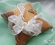 Prstene - Svadobný vankúšik na prstienky - 8107180_