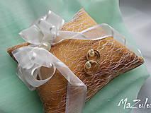 Prstene - Svadobný vankúšik na prstienky - 8107181_
