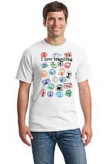 """Oblečenie - Tričko chlapčenské a pánske """" milujem cestovanie """" 01 - 8108914_"""