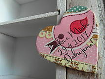 svadobné magnetky ružové