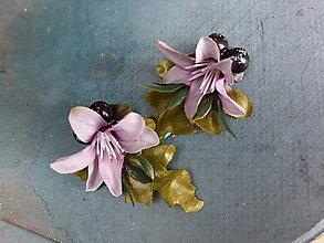Ozdoby do vlasov - fialové květy na sponkách - 8108408_