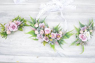Náhrdelníky - Kvetinový náhrdelník - 8109418_