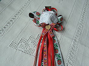 Pierka - Červené folky pierko pre starejšieho, starostu - 8108376_