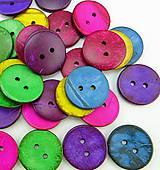 Galantéria - Farebné kokosové gombíčky 3cm (balíček 5ks) - 8109039_