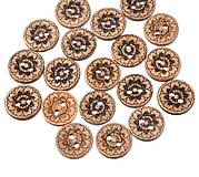 - Kokosový gombík 18mm gravírovaný - 8109104_