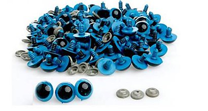 Galantéria - Veľké bezpečnostné očká modré 20mm - 8108571_