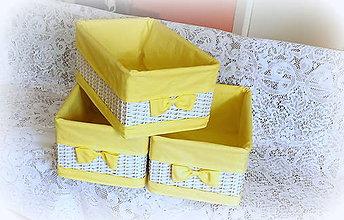 Košíky - Košík - odkladáčik v žltom šate - 8107049_