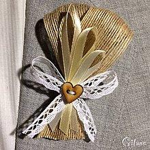 Pierka - Veľké svadobné pierka Ruban - Jute - 8106738_