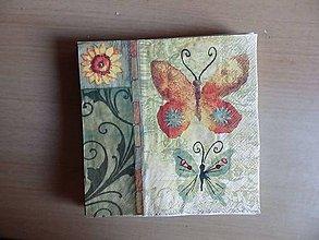 Papier - slnečnica a motýliky - 8108850_