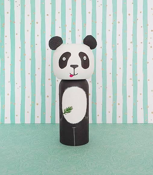 Bábiky - Drevená  Figúrka - Panda - 8107828_
