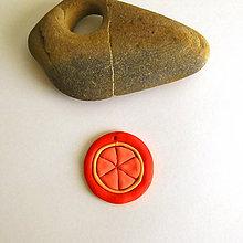 Náhrdelníky - Mozaikový prívesok (pomaranč) - 8106940_