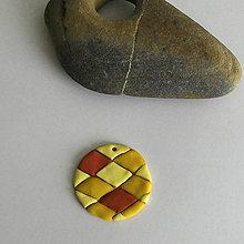 Náhrdelníky - Mozaikový prívesok (kosoštvorce) - 8108179_