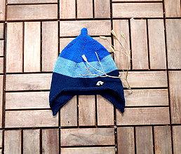 Detské čiapky - Čiapočka pletená trojfarebná - 8109490_