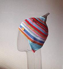 Detské čiapky - Čiapka s veselými pásikmi - 8109539_