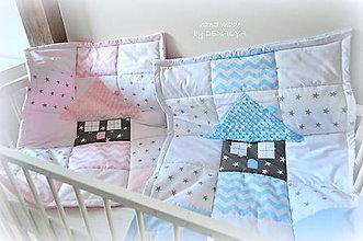 Textil - Deka z kolekcie Čarovná hviezdička 70x90cm-trojvrstvová - 8113058_