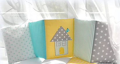 Textil - Mantinel 240x25 do postieľky z kolekcie MINT - 8113619_