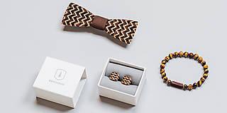Šperky - Drevené manžetové gombíky Trio - 8113352_
