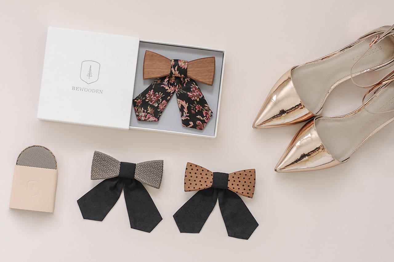 ORIGINÁL – Dámsky drevený motýlik Fora