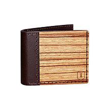 Peňaženky - Drevená peňaženka Lineari - 8113521_