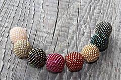 Náhrdelníky - náhrdelník z obšívaných guličiek mix - 8113034_